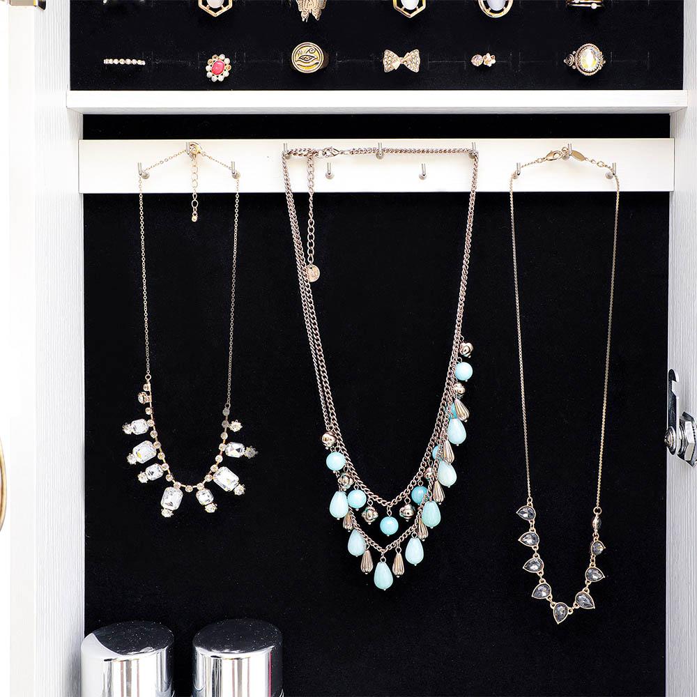 Over The Door Jewelry Armoire Mirror Wall Mount Full ...