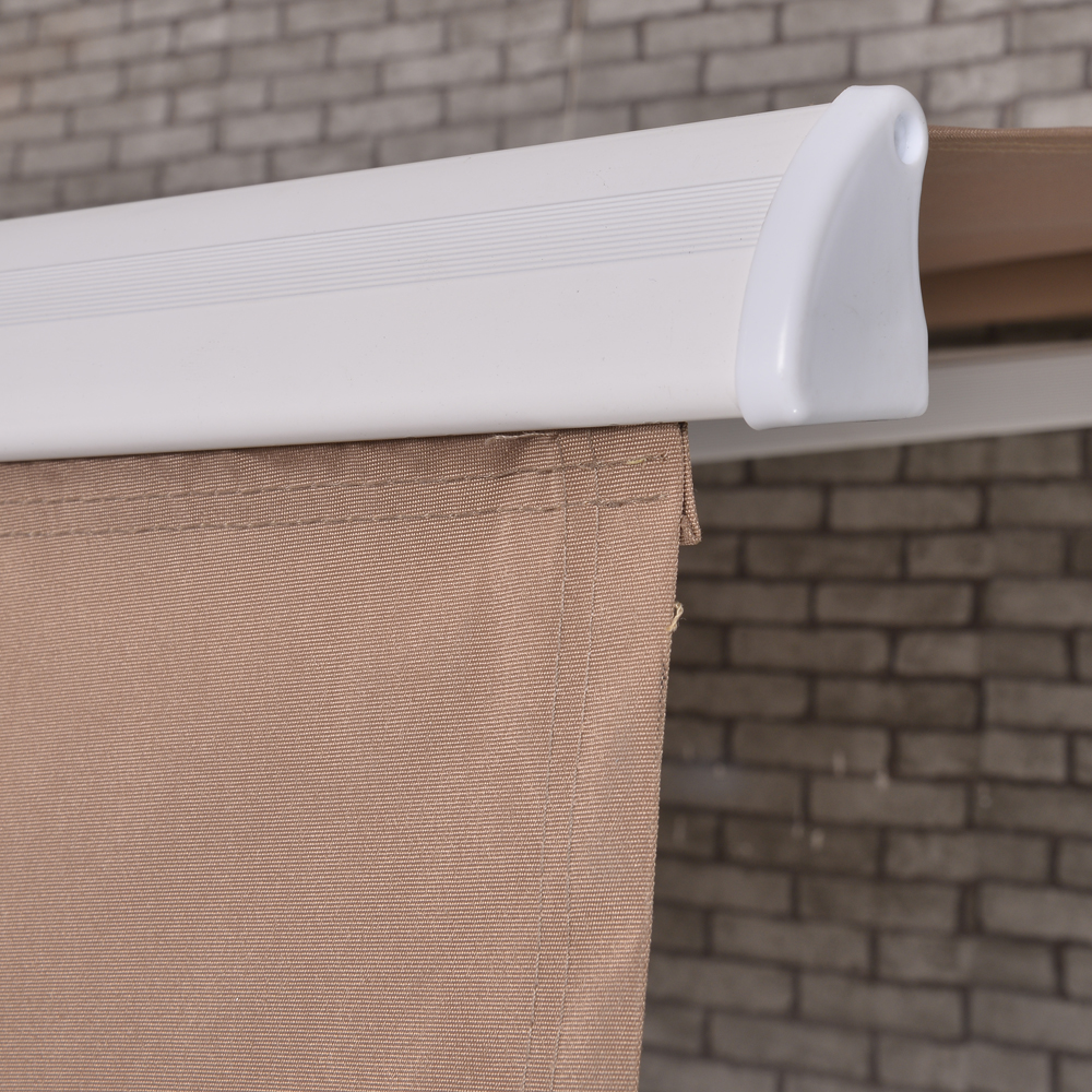 Retractable Awning Manual Outdoor Patio Canopy Sun Shade ...