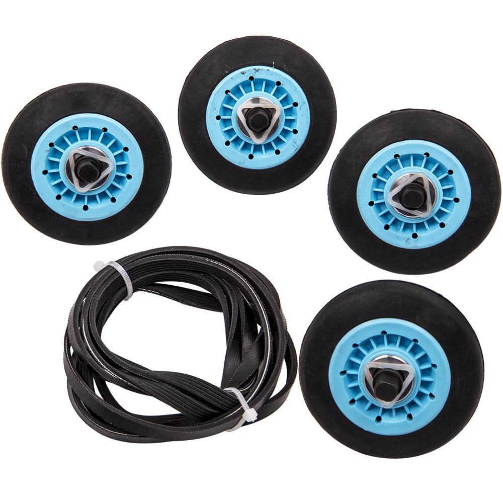 For Samsung Dryer Model Repair Drum Support Roller  U0026 Belt  U0026 Idler Pulley Kit