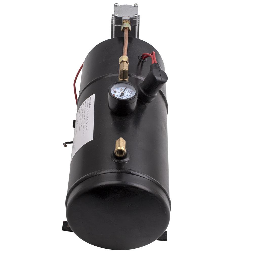 4 trompete chrom zug luft horn kit mit 150psi 3liter 12v. Black Bedroom Furniture Sets. Home Design Ideas